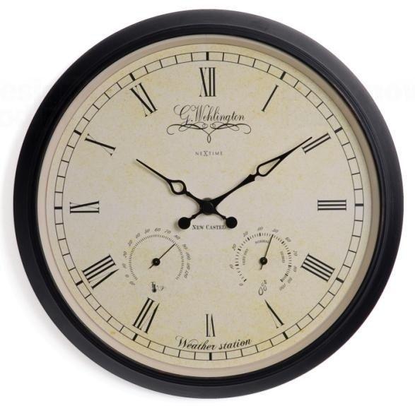 NeXtime Designové nástěnné hodiny 2969 Nextime Aje Wheather Station 25cm 161004