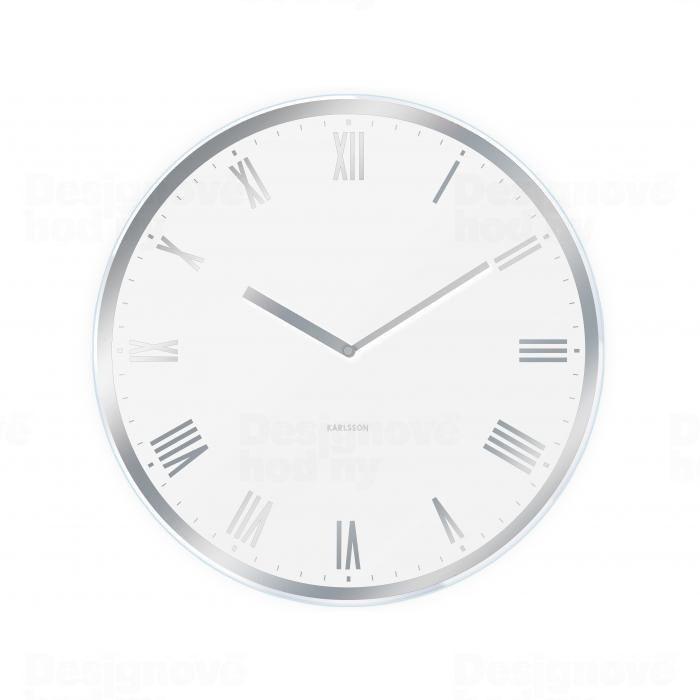 Hodiny na zeď Designové nástěnné hodiny 5423WH Karlsson 40cm 161057 Designové hodiny