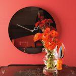 """Hodiny na zeď Designové nástěnné hodiny Diamantini a Domeniconi Seven 40cm D&D barvy kov starorůžový """"fuchsia - magenta"""" lak 161070 Diamantini&Domeniconi Designové hodiny"""