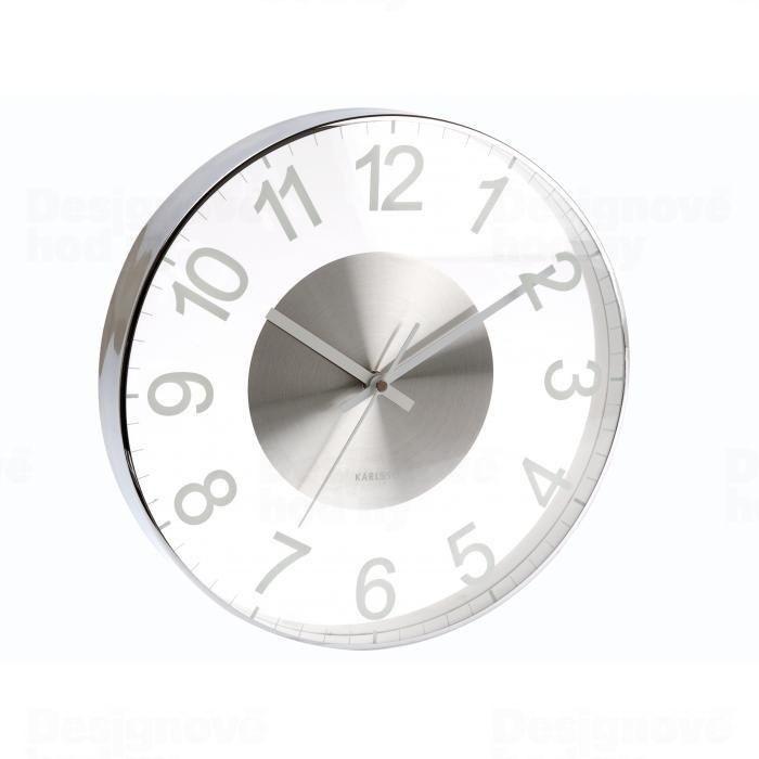 Designové nástěnné hodiny do koupelny 5404WH Karlsson 30cm 161061