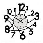 Designové nástěnné hodiny Lowell 05833N Design 50cm 161088 Lowell Italy Hodiny