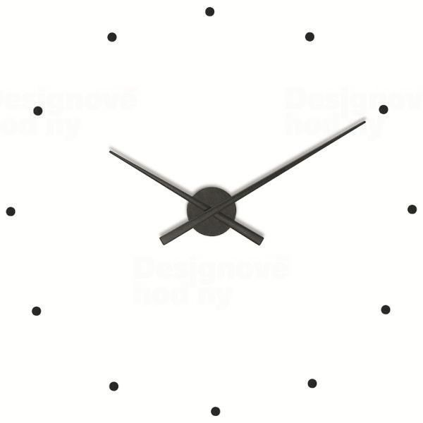 Nomon Designové nástěnné hodiny NOMON OJ černé 80cm 160970