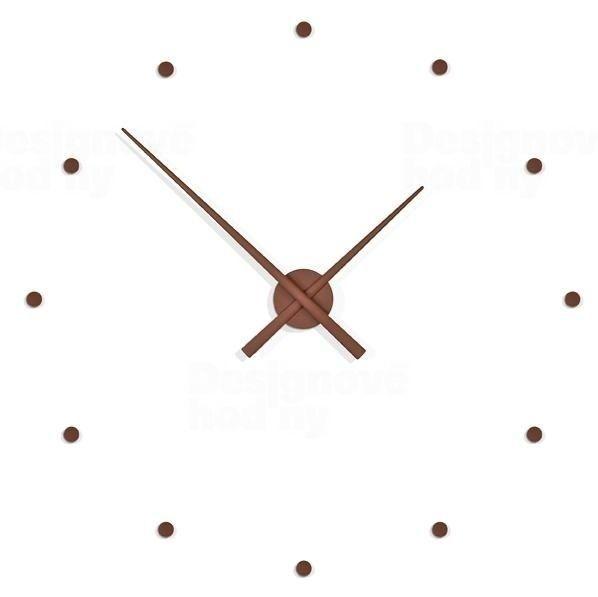 Nomon Designové nástěnné hodiny NOMON OJ čokoláda 50cm 160973