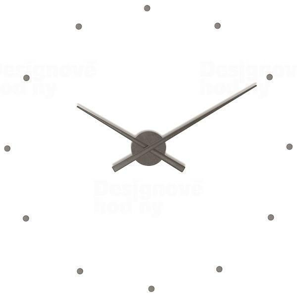 Nomon Designové nástěnné hodiny NOMON OJ grafitové 80cm 160969