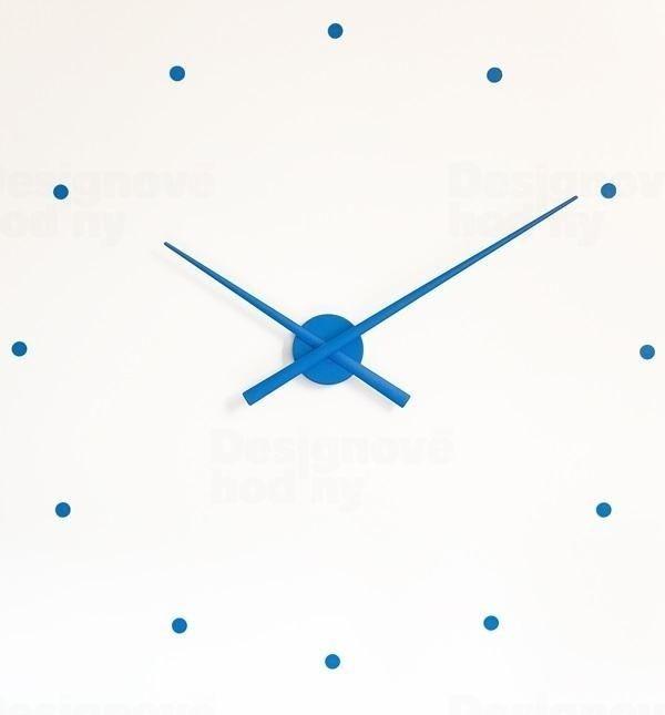 Nomon Designové nástěnné hodiny NOMON OJ modré 80cm 160964