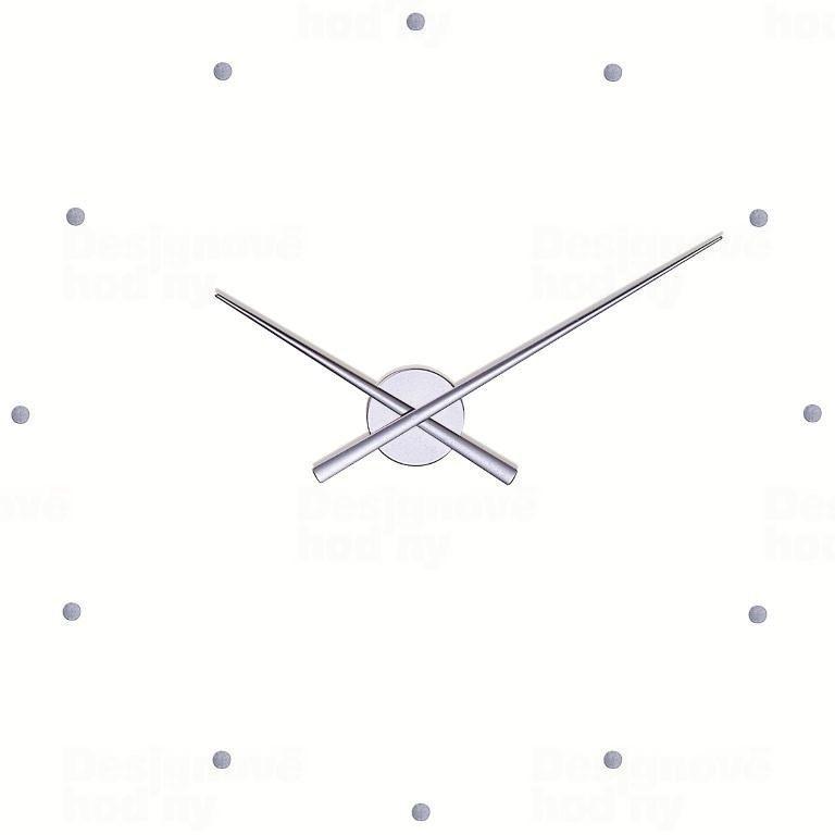Nomon Designové nástěnné hodiny NOMON OJ stříbrné 50cm 160977
