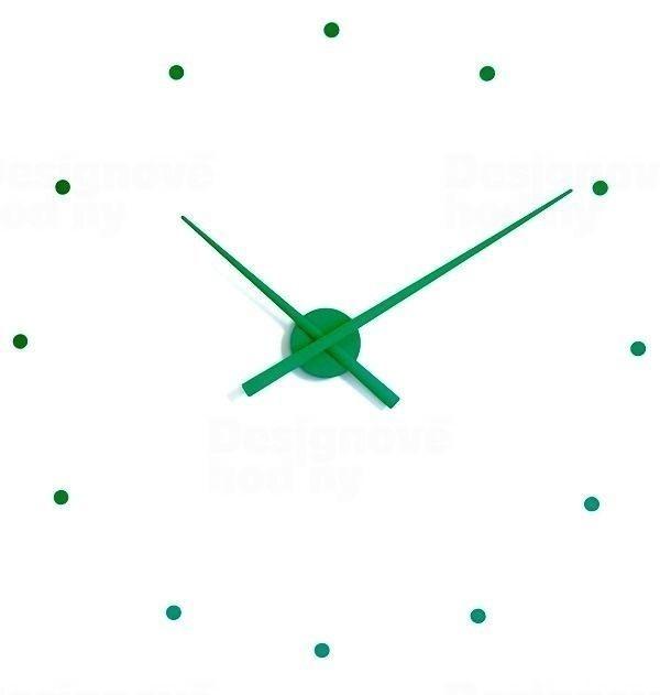 Nomon Designové nástěnné hodiny NOMON OJ zelené 80cm 160963