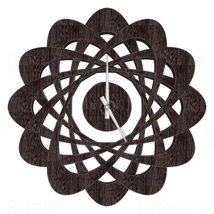 CalleaDesign Designové nástěnné hodiny 1471 Calleadesign 44cm (20 barev) Barva wenge 161231