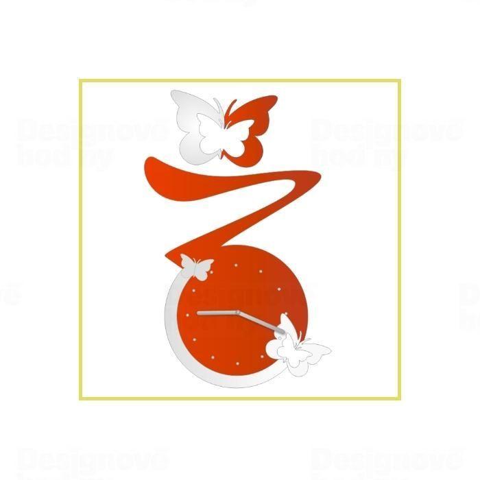 CalleaDesign Designové nástěnné hodiny 1960 Calleadesign 45cm Barva červená 161184