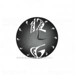 Designové nástěnné hodiny 1503M Calleadesign 45cm Barva černá 161271