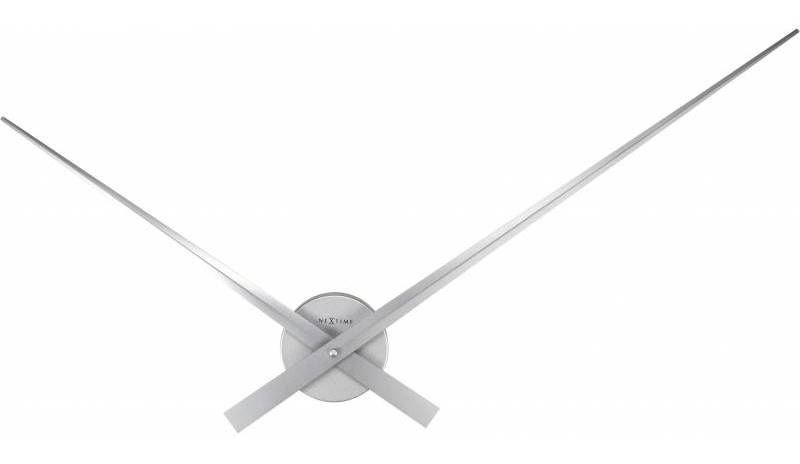 NeXtime Designové nástěnné hodiny 2269zi Nextime Hands Silver 85cm 161312
