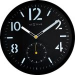 Designové nástěnné hodiny 3050 Nextime Serious black 32cm 161331