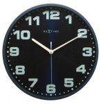 Designové nástěnné hodiny 3053bl Nextime Dash blue 35cm 161332