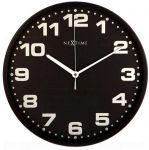 Designové nástěnné hodiny 3053zw Nextime Dash black 35cm 161334