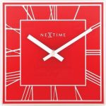 Designové nástěnné hodiny 5184ro Nextime Square 20cm 161364