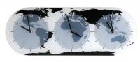 Designové nástěnné hodiny 8108 Nextime Mondial 50cm 161357