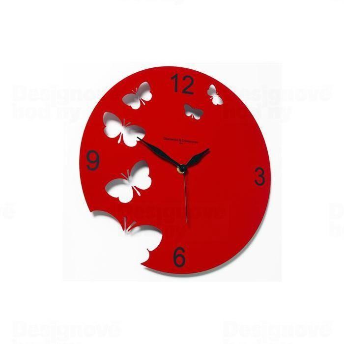 Hodiny na zeď Designové hodiny D&D 201 Meridiana 30cm Meridiana barvy kov černý lak 161506 Designové hodiny