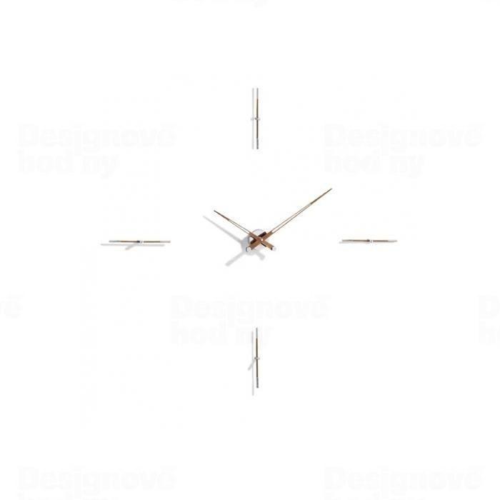 Hodiny na zeď Designové nástěnné hodiny Nomon Merlin Walnut 4NP 125cm 161601 Designové hodiny