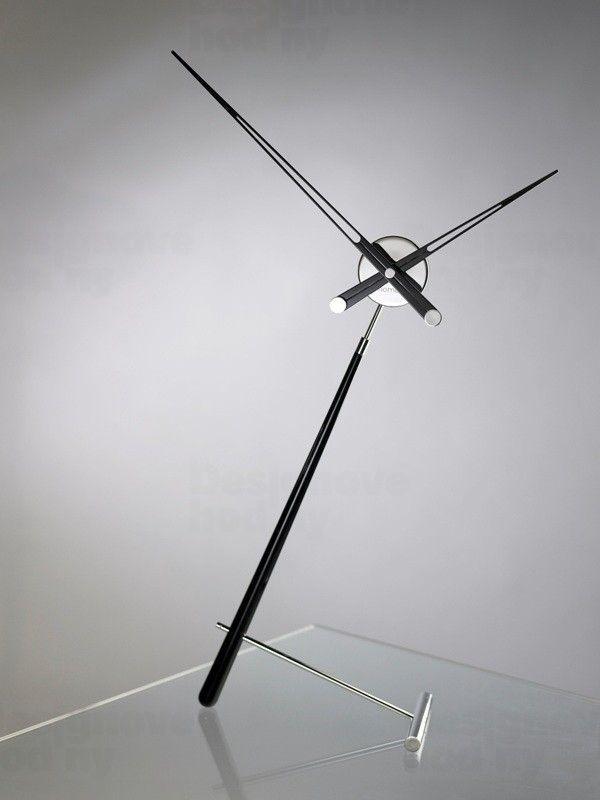 Designové stolní hodiny Nomon Puntero L Black 94cm 161616