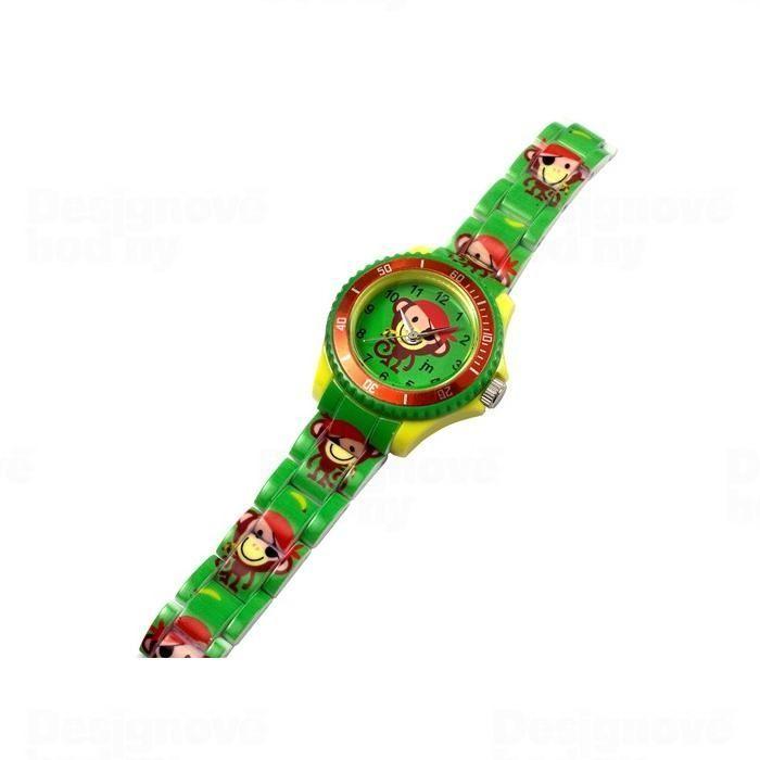 Lowell Italy Dětské hodinky Lowell Splash JP016 opice 161541