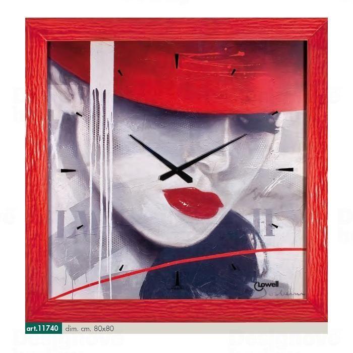 Lowell Italy Originální nástěnné hodiny 11740 Lowell Prestige 80cm 161649