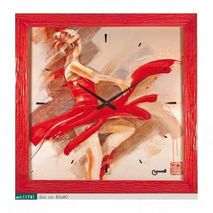 Lowell Italy Originální nástěnné hodiny 11741 Lowell Prestige 80cm 161647