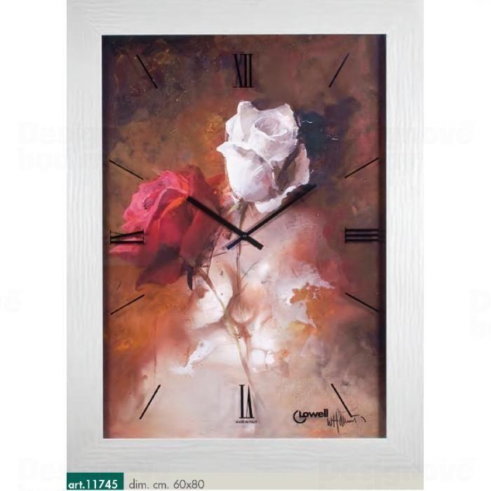 Lowell Italy Originální nástěnné hodiny 11745 Lowell Prestige 80cm 161650