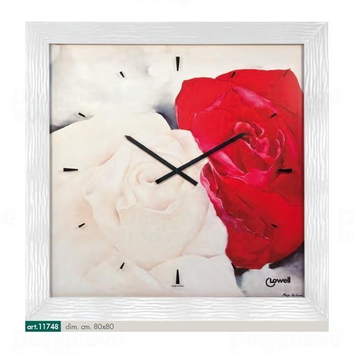 Lowell Italy Originální nástěnné hodiny 11748 Lowell Prestige 80cm 161651