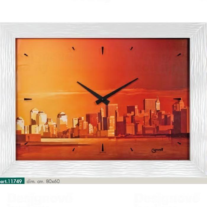 Lowell Italy Originální nástěnné hodiny 11749 Lowell Prestige 80cm 161654