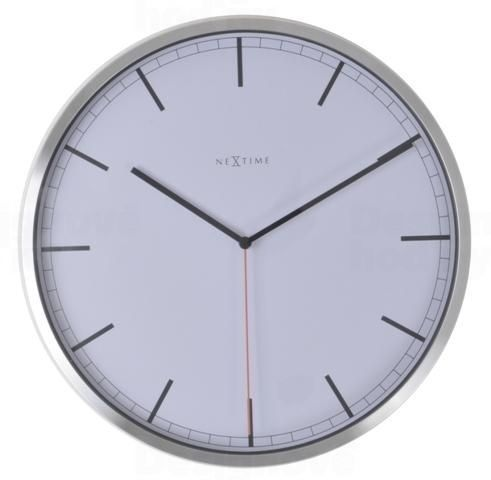 Designové nástěnné hodiny 3071wi Nextime Company White Stripe 35cm 161817 Hodinářství