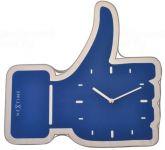 Designové nástěnné hodiny 3072bl Nextime Facebook Like 42cm 161819