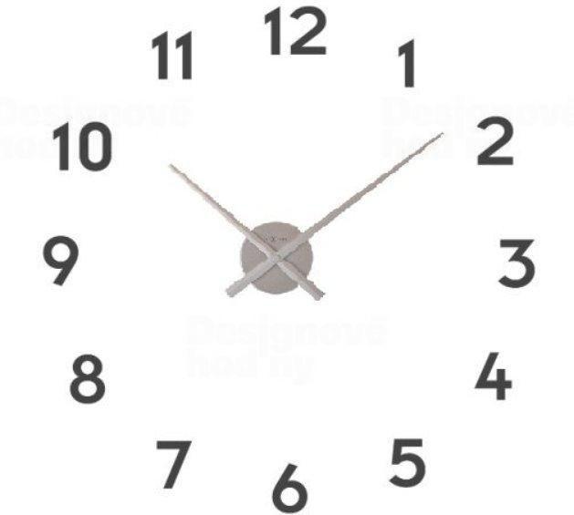 NeXtime Designové nástěnné hodiny 3074zi Nextime Small hands 48cm 161821