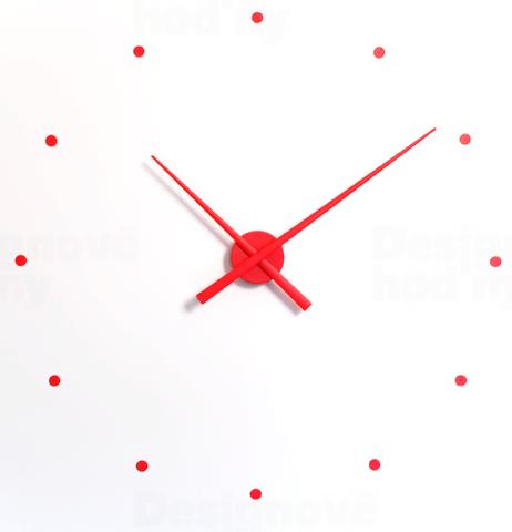 Nomon Designové nástěnné hodiny NOMON OJ červené 80cm 161795