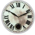 Designové nástěnné kyvadlové hodiny 8162 Nextime Romana 43cm 161839
