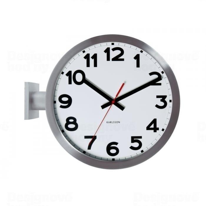 Designové oboustranné nástěnné hodiny 5511 Karlsson 38cm 161808