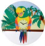 Dětské nástěnné kyvadlové hodiny 8168 Nextime Papoušek Lorre 43cm 161842