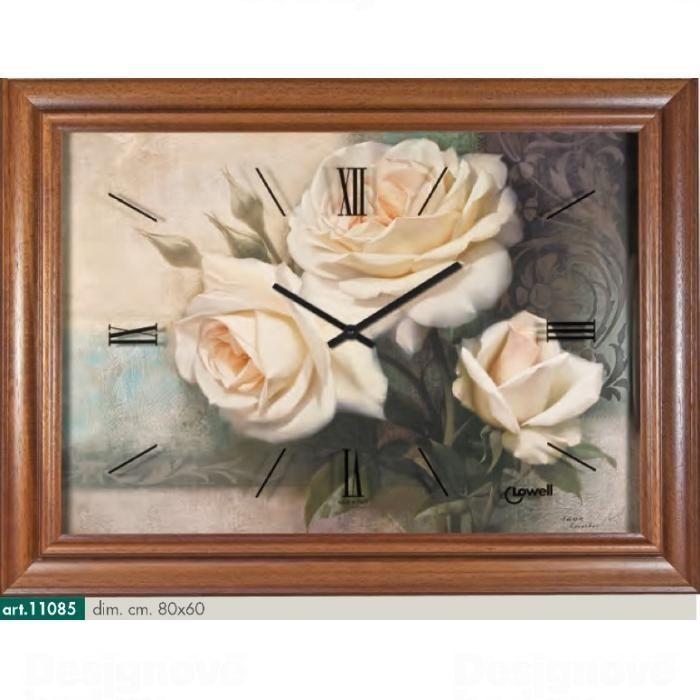 Lowell Italy Originální nástěnné hodiny 11085 Lowell Prestige 80cm 161736
