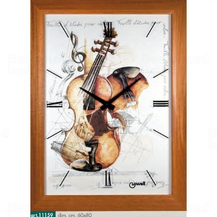 Lowell Italy Originální nástěnné hodiny 11159 Lowell Prestige 80cm 161689