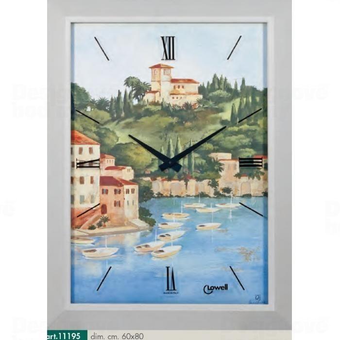 Lowell Italy Originální nástěnné hodiny 11195 Lowell Prestige 80cm 161698