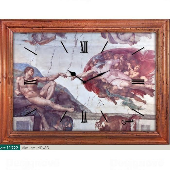 Lowell Italy Originální nástěnné hodiny 11222 Lowell Prestige 80cm 161763