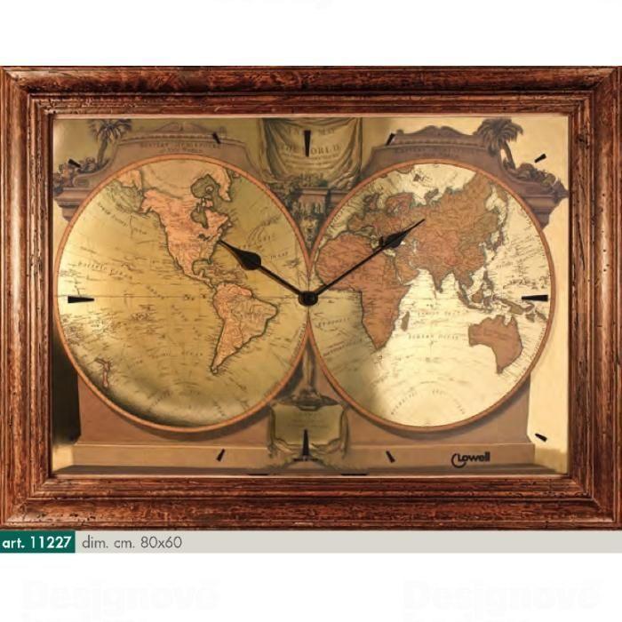 Lowell Italy Originální nástěnné hodiny 11227 Lowell Prestige 80cm 161716