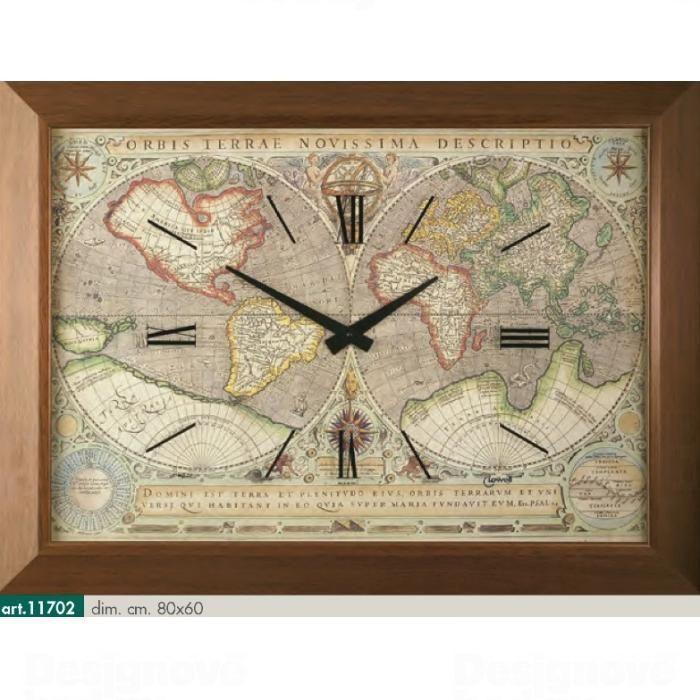 Lowell Italy Originální nástěnné hodiny 11702 Lowell Prestige 80cm 161718