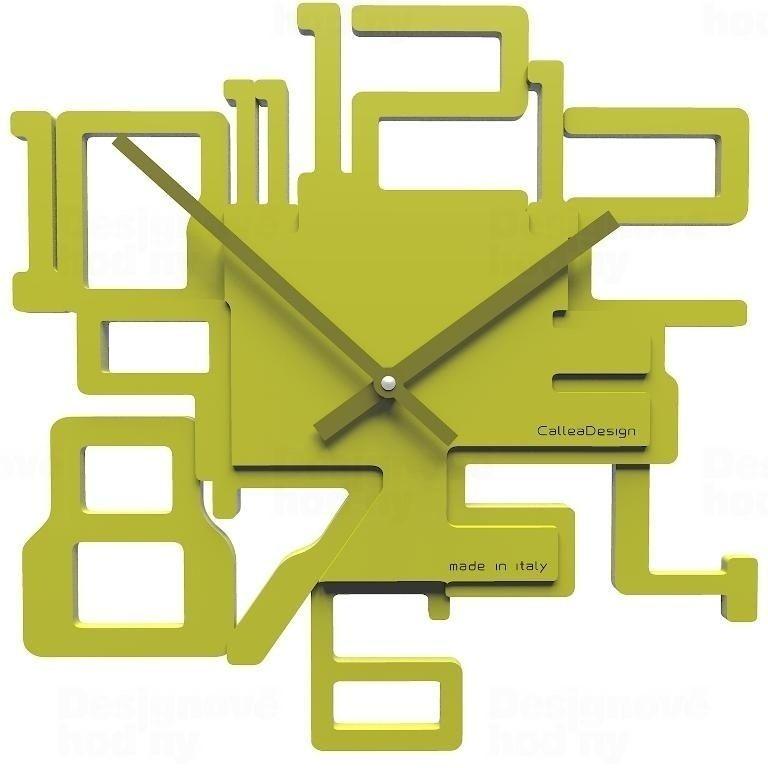 Designové hodiny 10-003 CalleaDesign Kron 32cm (více barevných verzí) Barva žlutý meloun - 62 161976 Hodiny