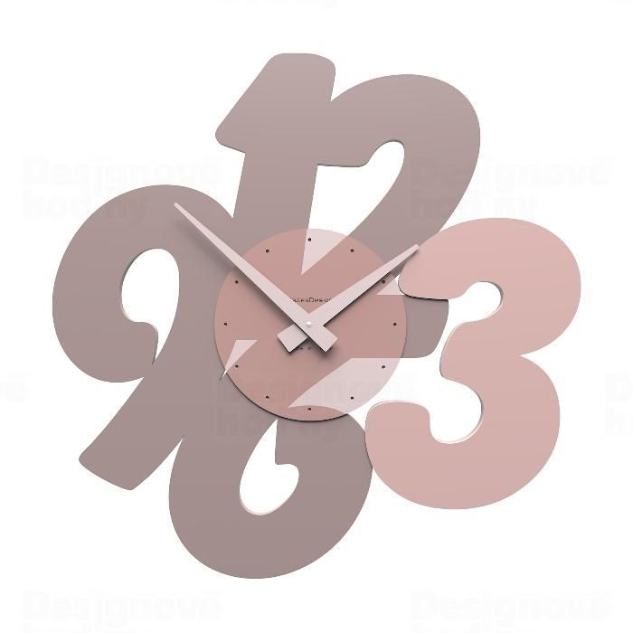 Designové hodiny 10-105 CalleaDesign 47cm (více barev) Barva černá klasik - 5 162048