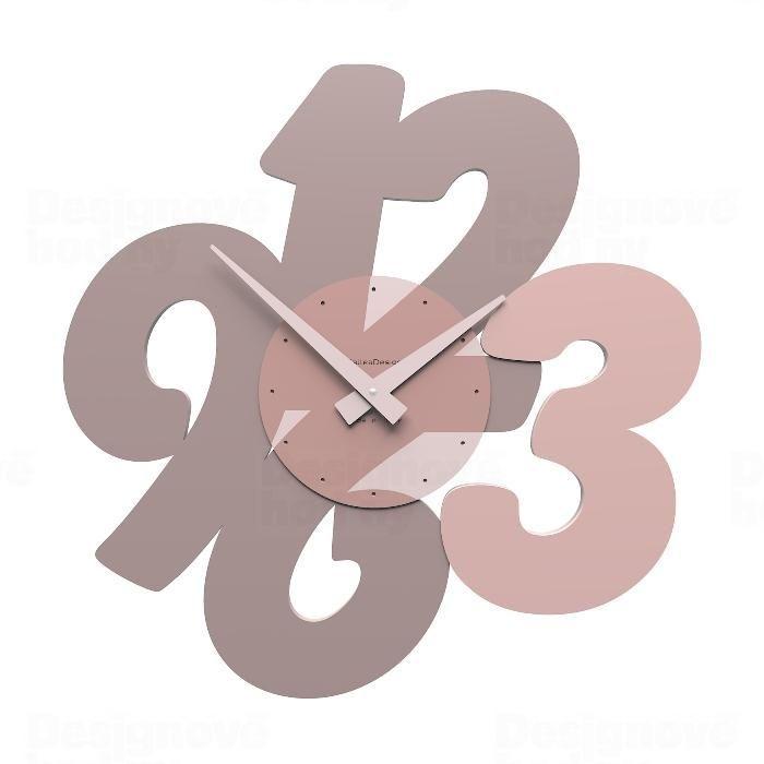 Designové hodiny 10-105 CalleaDesign 47cm (více barev) Barva rubínová tmavě červená - 65 162054