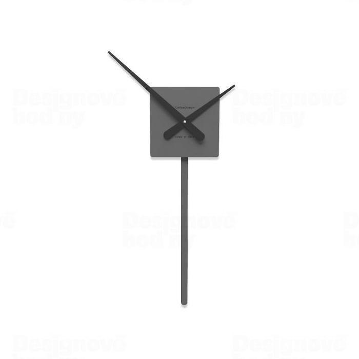 Designové hodiny 11-008 CalleaDesign 50cm (více barev) Barva antracitová černá - 4 163117