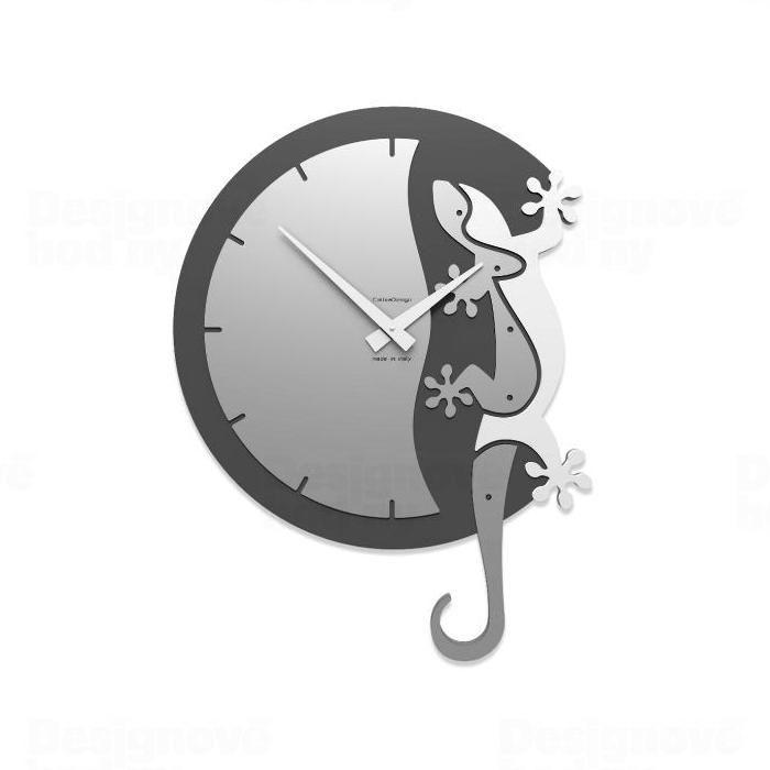 Designové hodiny 54-10-2 CalleaDesign 59cm (více barev) Barva béžová - 12 163168 Hodiny