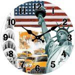 Designové nástěnné hodiny 14849 Lowell 34cm 163693
