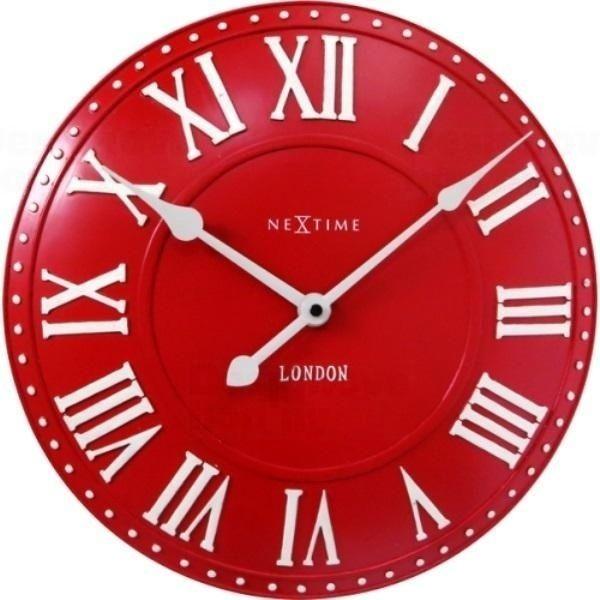 NeXtime Designové nástěnné hodiny 3083ro Nextime v aglickém retro stylu 35cm 163556