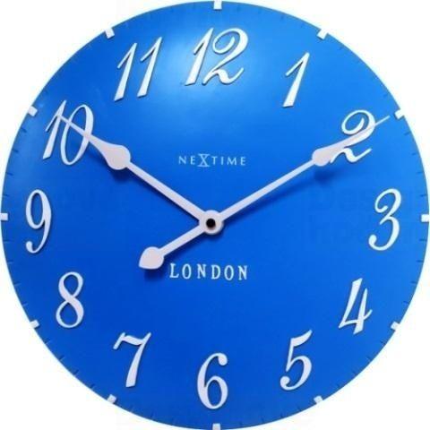 NeXtime Designové nástěnné hodiny 3084bl Nextime v aglickém retro stylu 35cm 163558